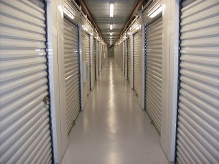 hallway of storage units