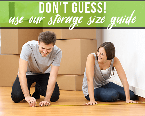 Use Our Storage Size Guide