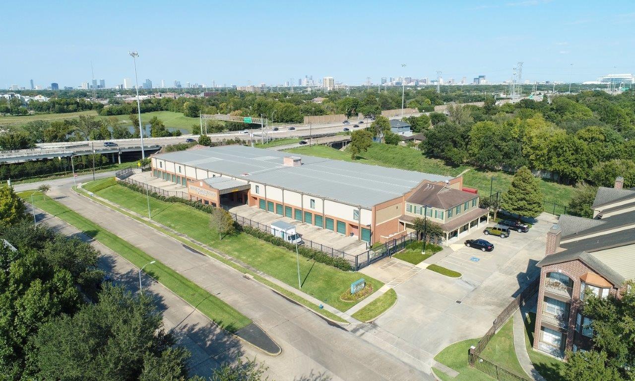 Overhead view of meyer park storage center