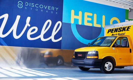 Penske Rental Trucks at Discovery Storage