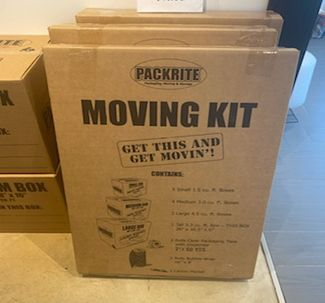 Moving Kit Containing Cardboard Moving Boxes