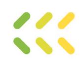 green, light green, yellow line arrow