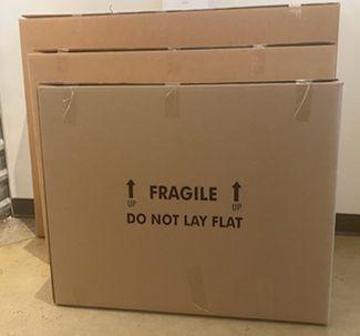 Slim Cardboard Fragile TV Boxes