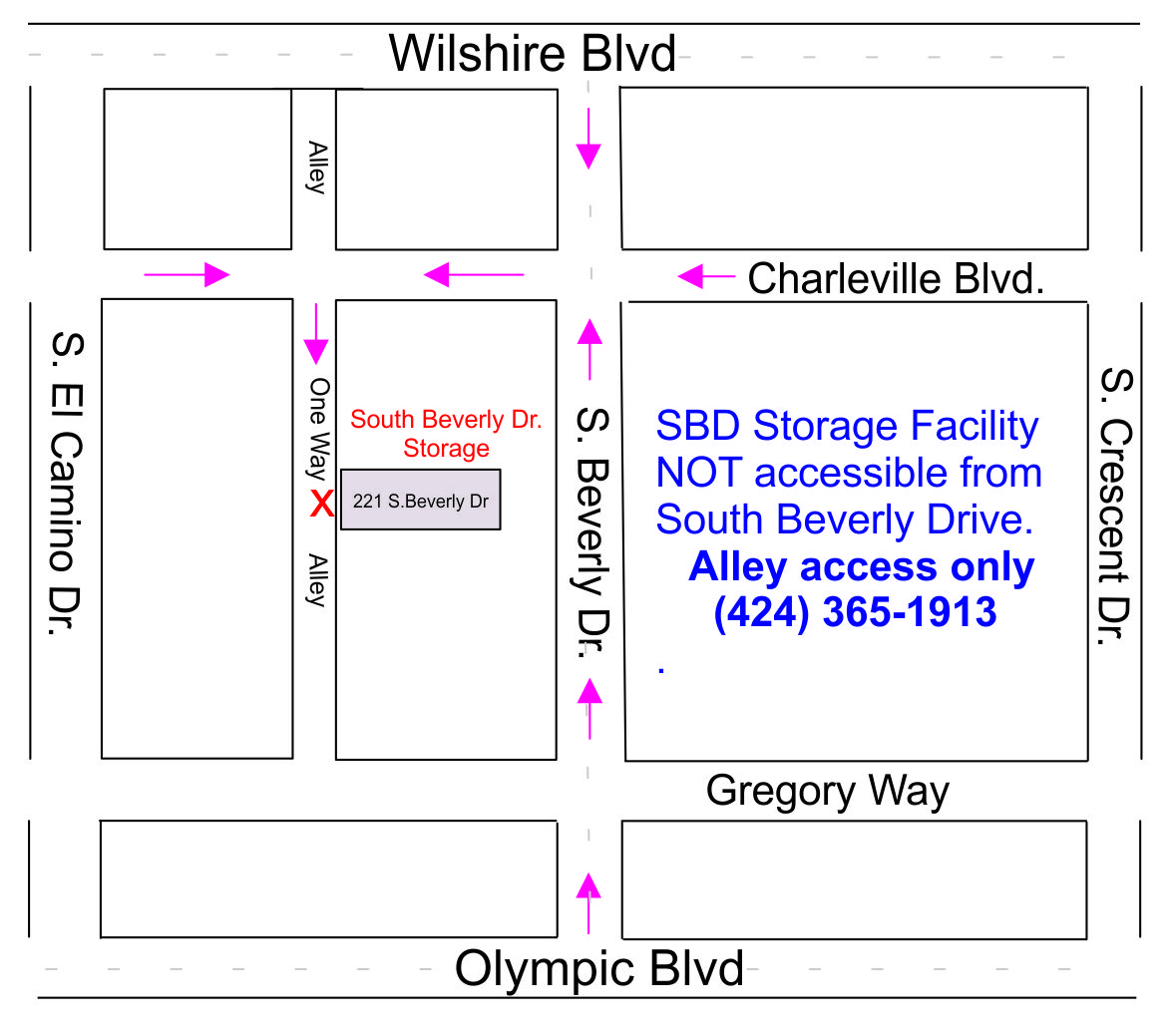 Directions to South Beverly Drive Storage