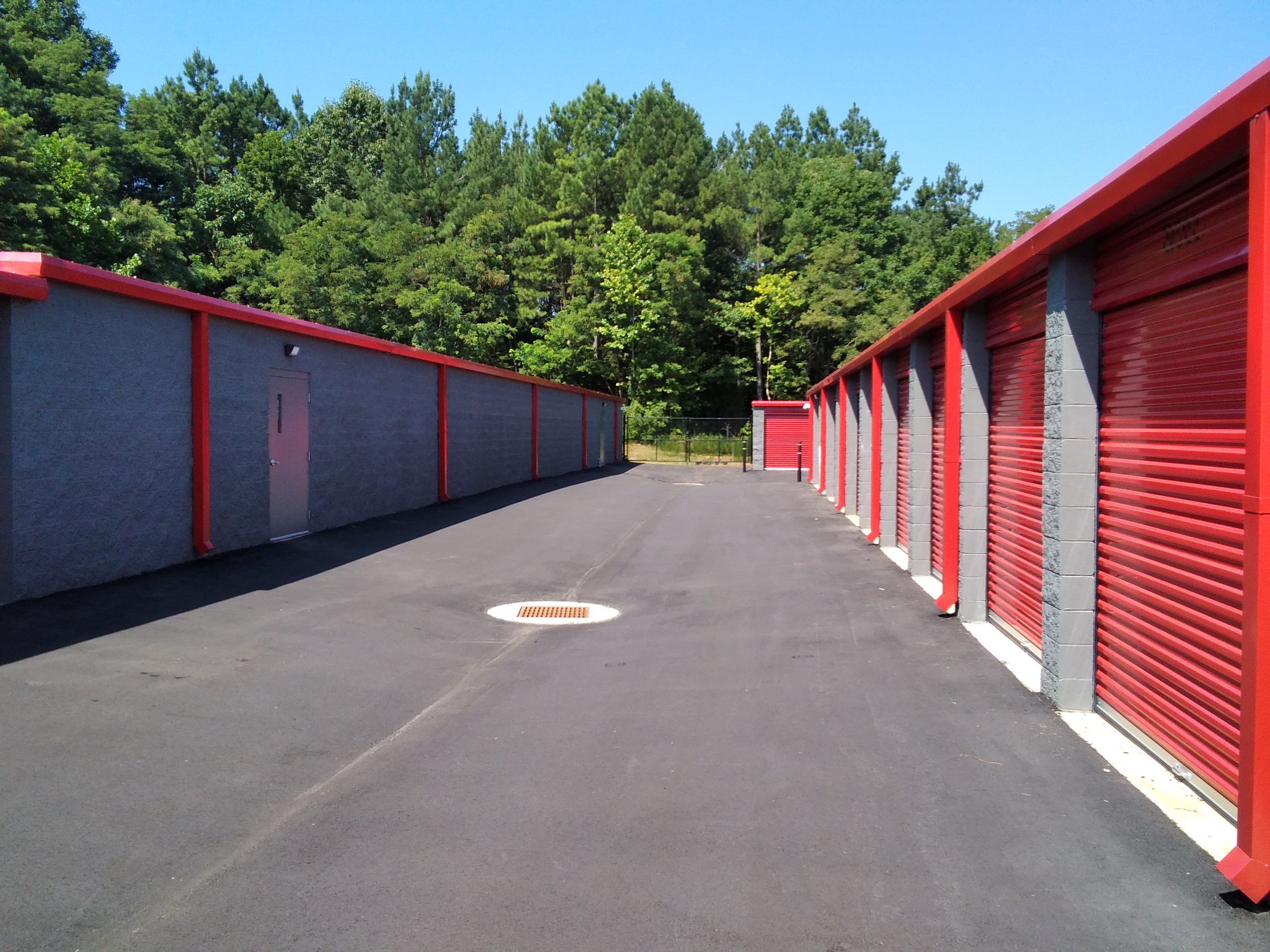 Exterior Storage Units with drive up access door