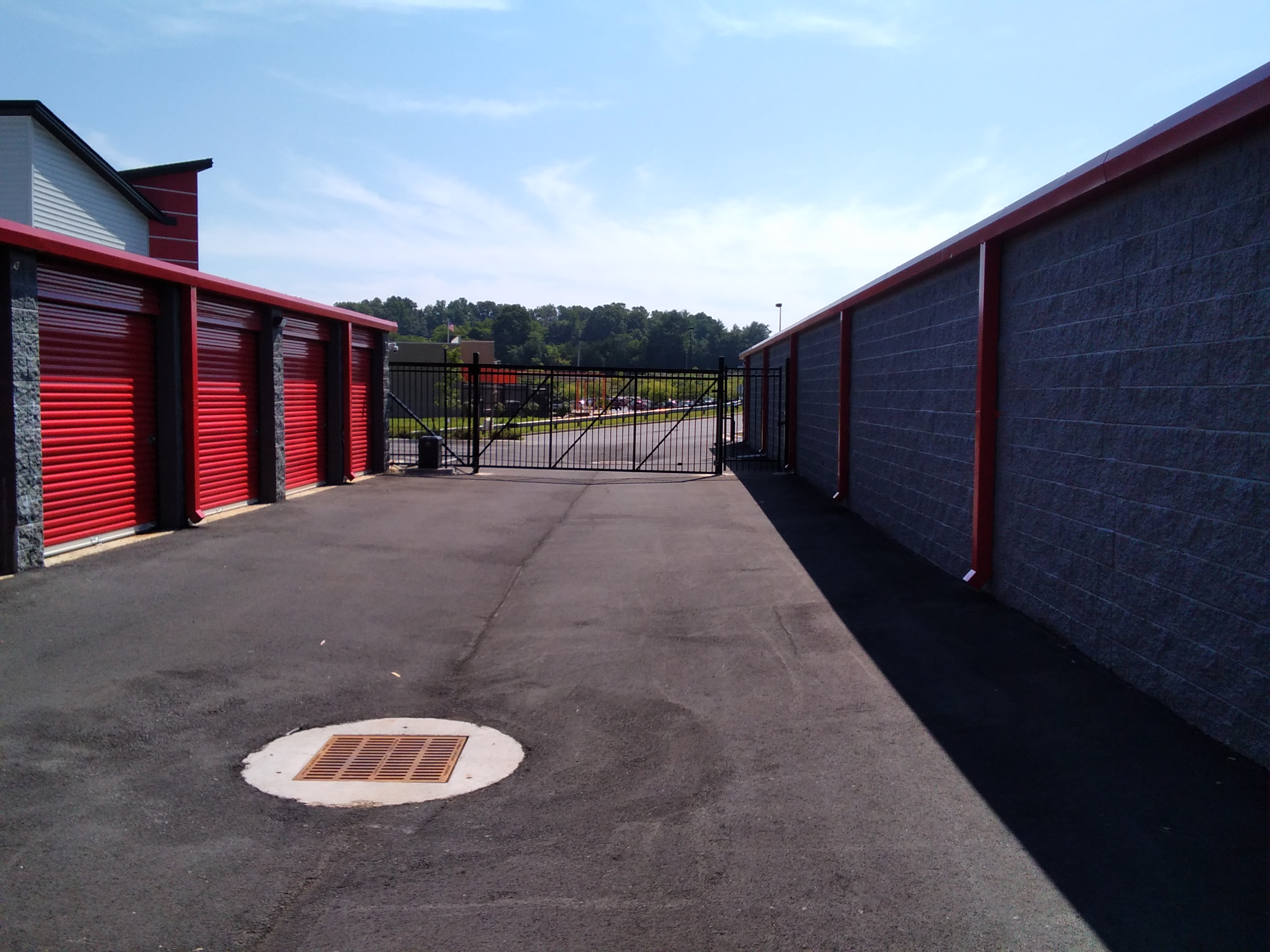 Exterior Storage Units and gate