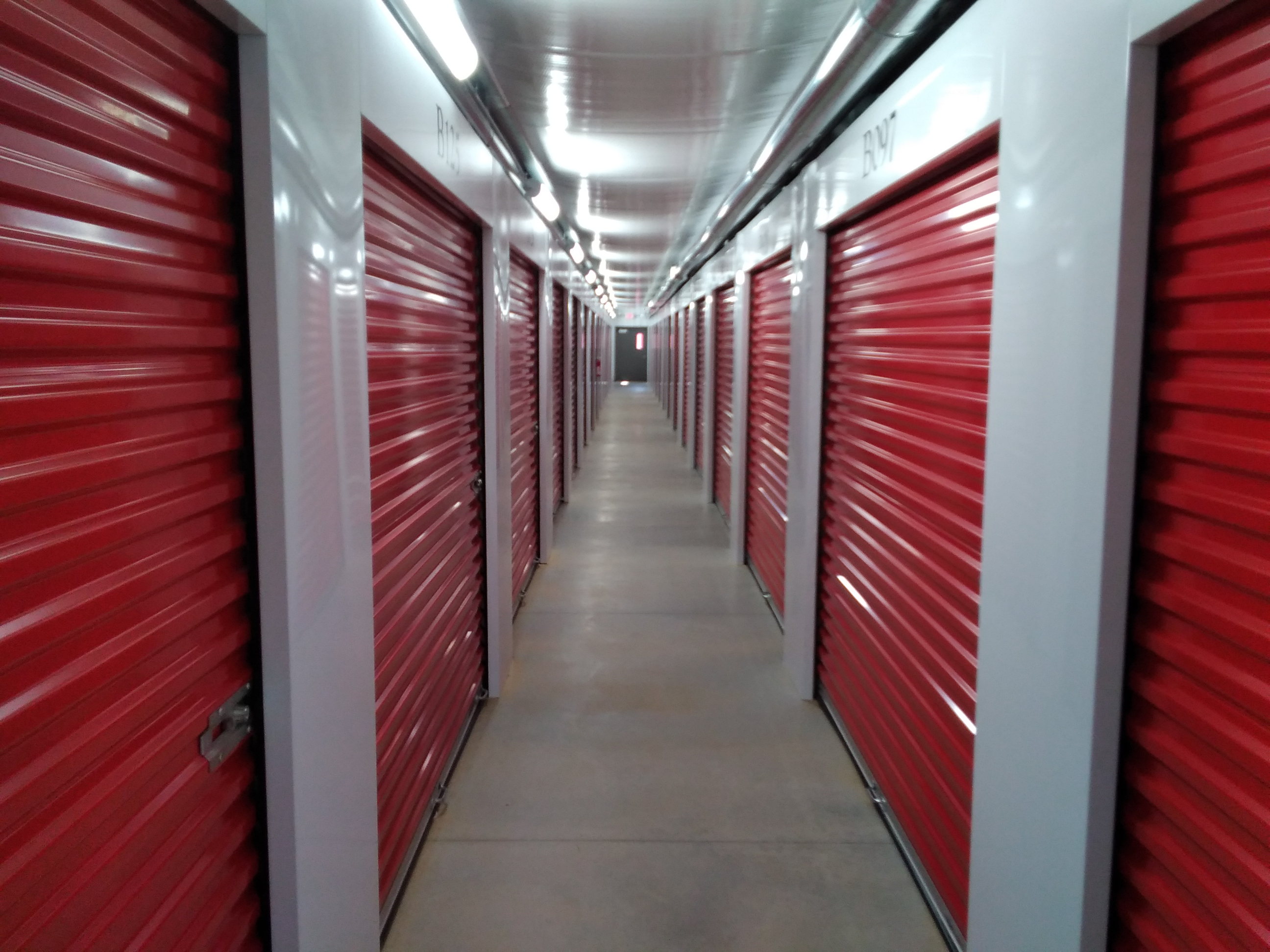hallway of interior self storage units