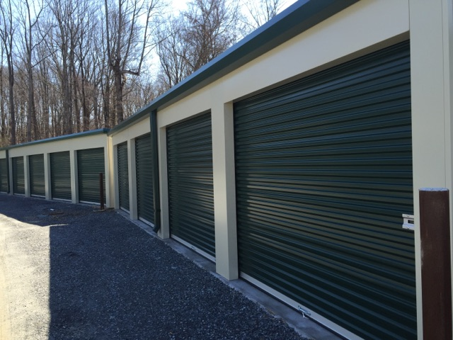 Exterior Storage Units with drive up access doors