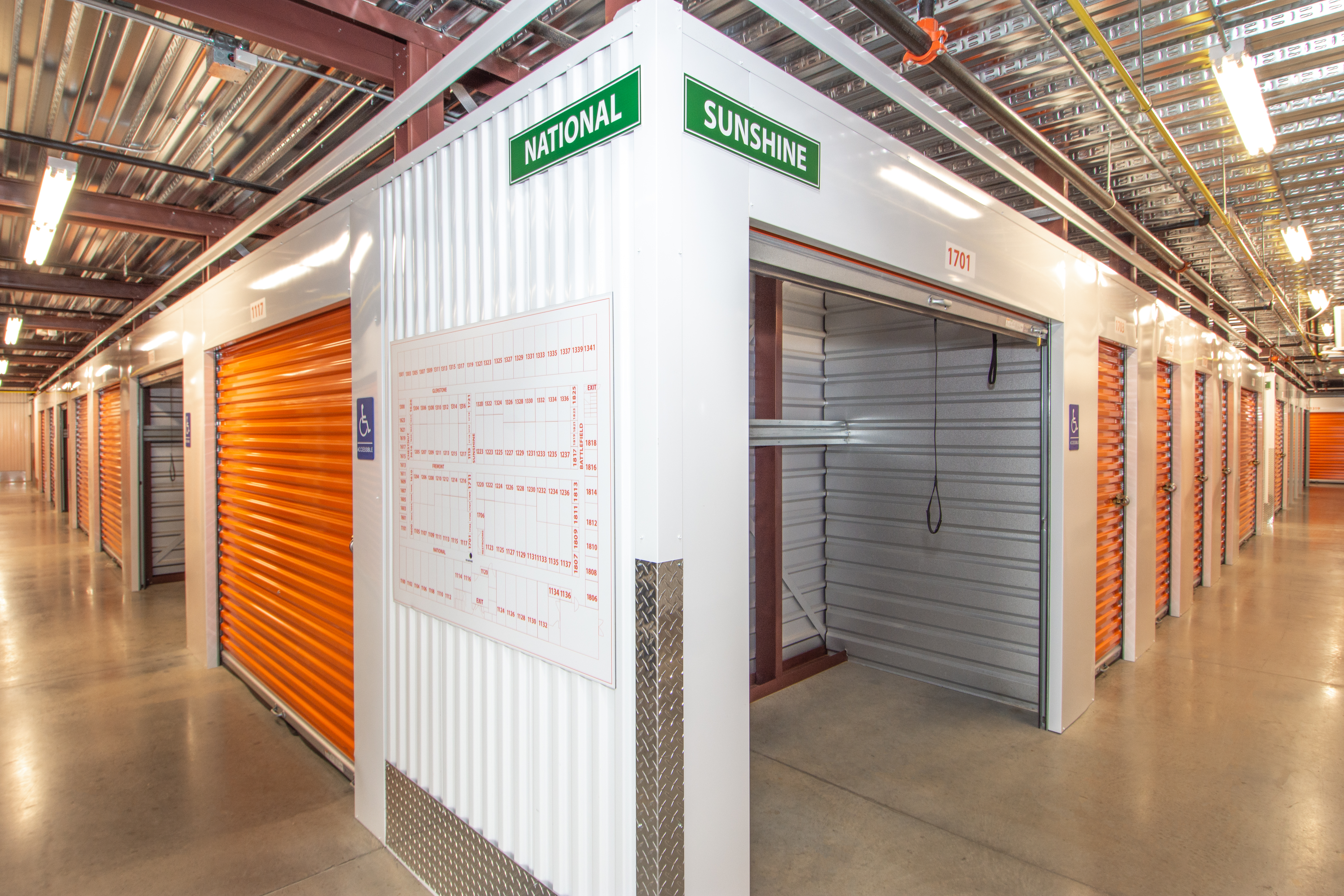 1st floor climate controlled self storage