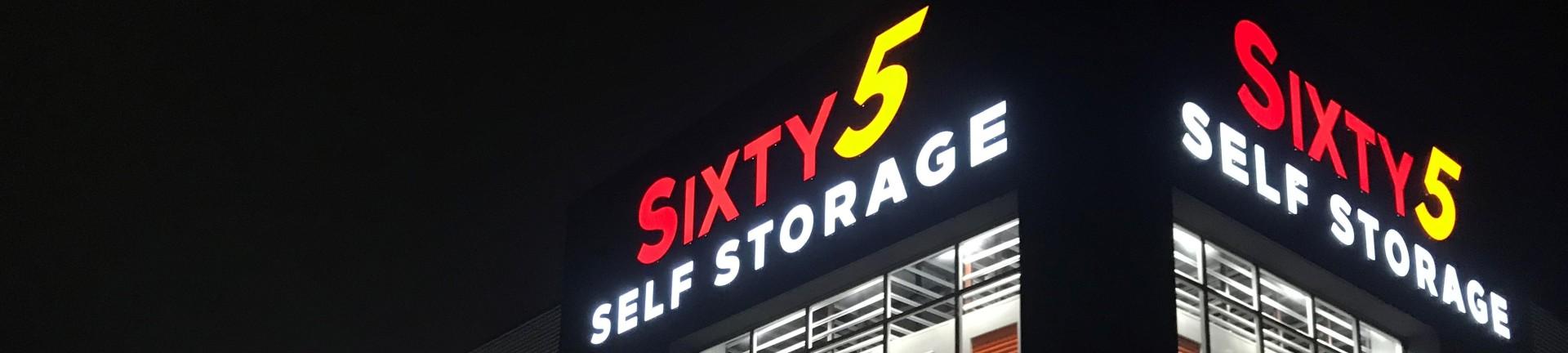 sixty5 self storage night