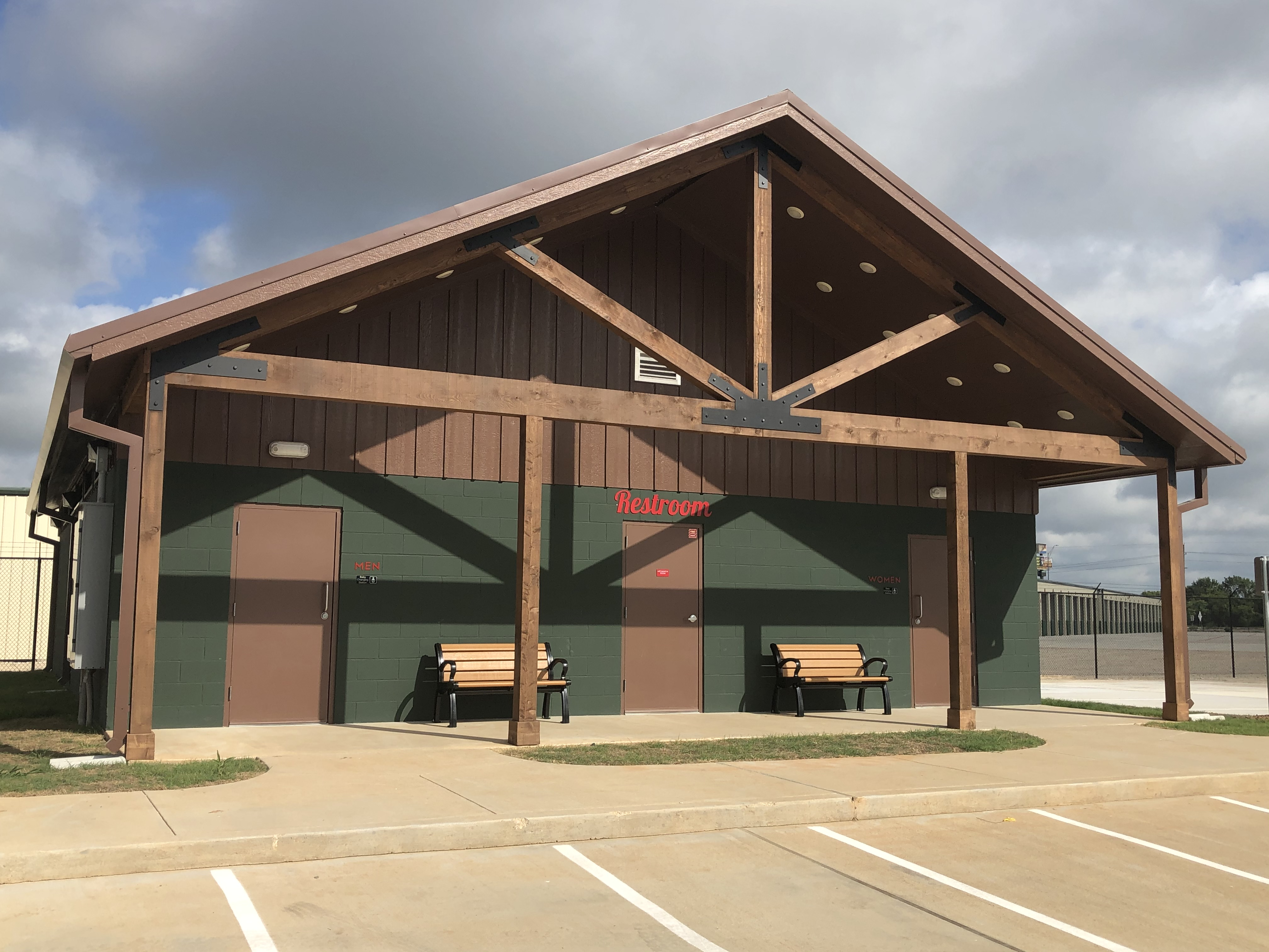 Restrooms available at Kathy's Kampground in Sealy, TX
