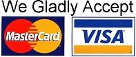 We accept MasterCard & Visa