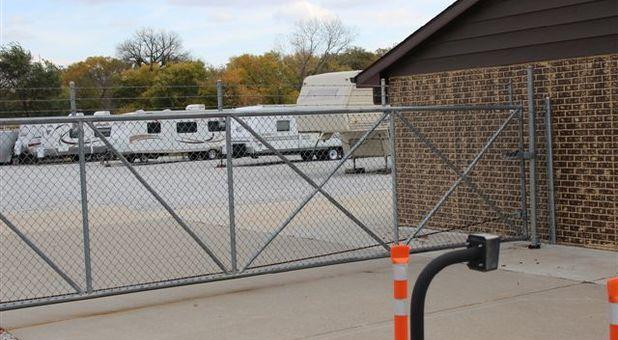 Self Serve Storage Facility fence