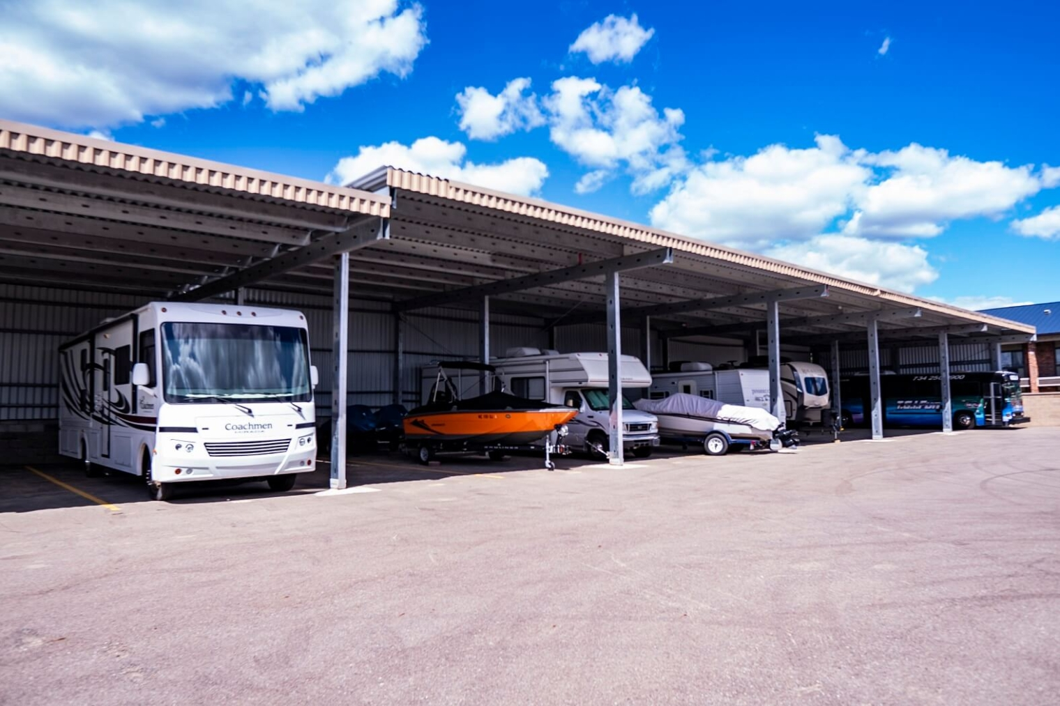 covered rv parking in livonia michigan