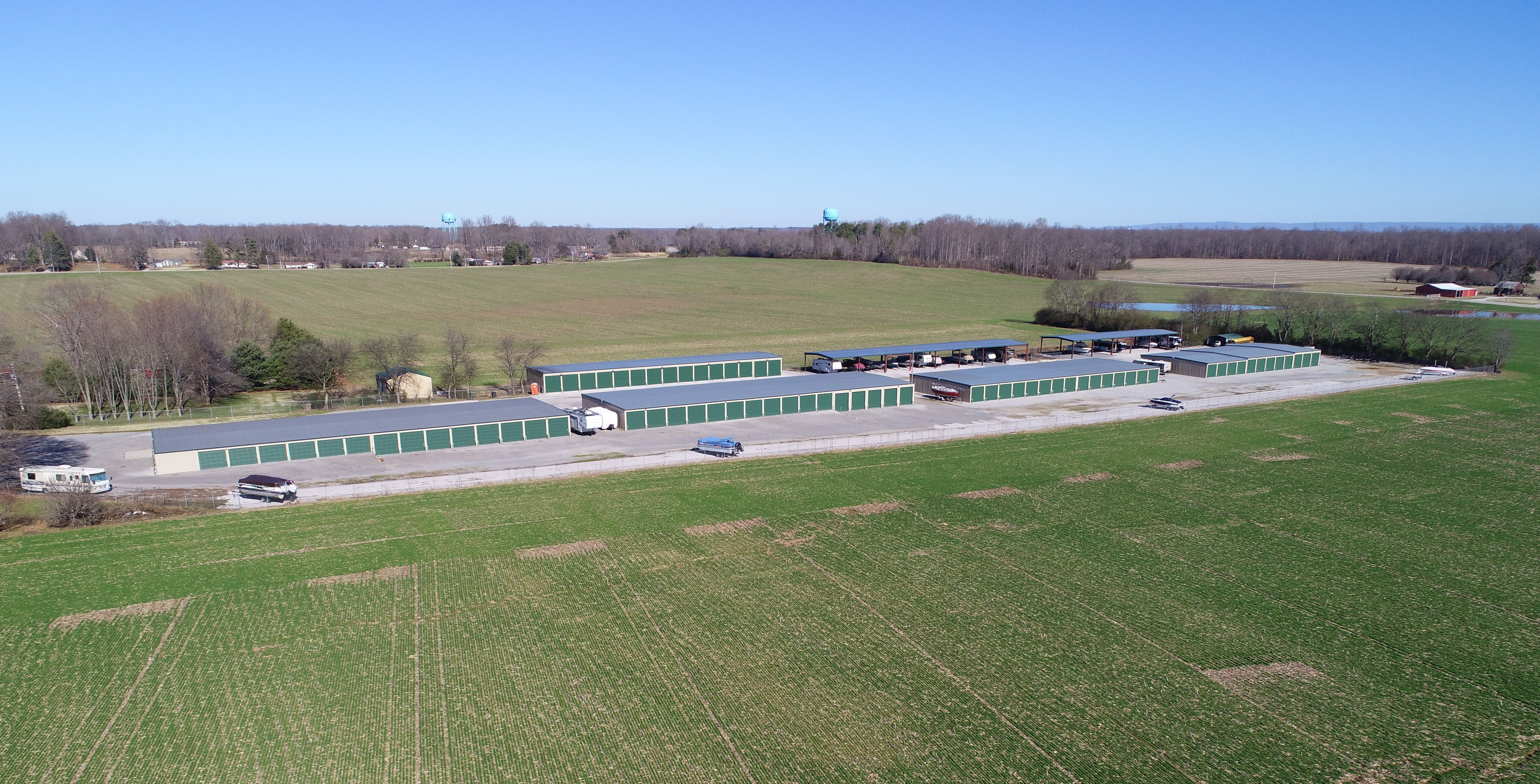 Arial View of Self Storage in Tullahoma, TN