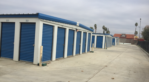 Rows of storage units at Lions Storage