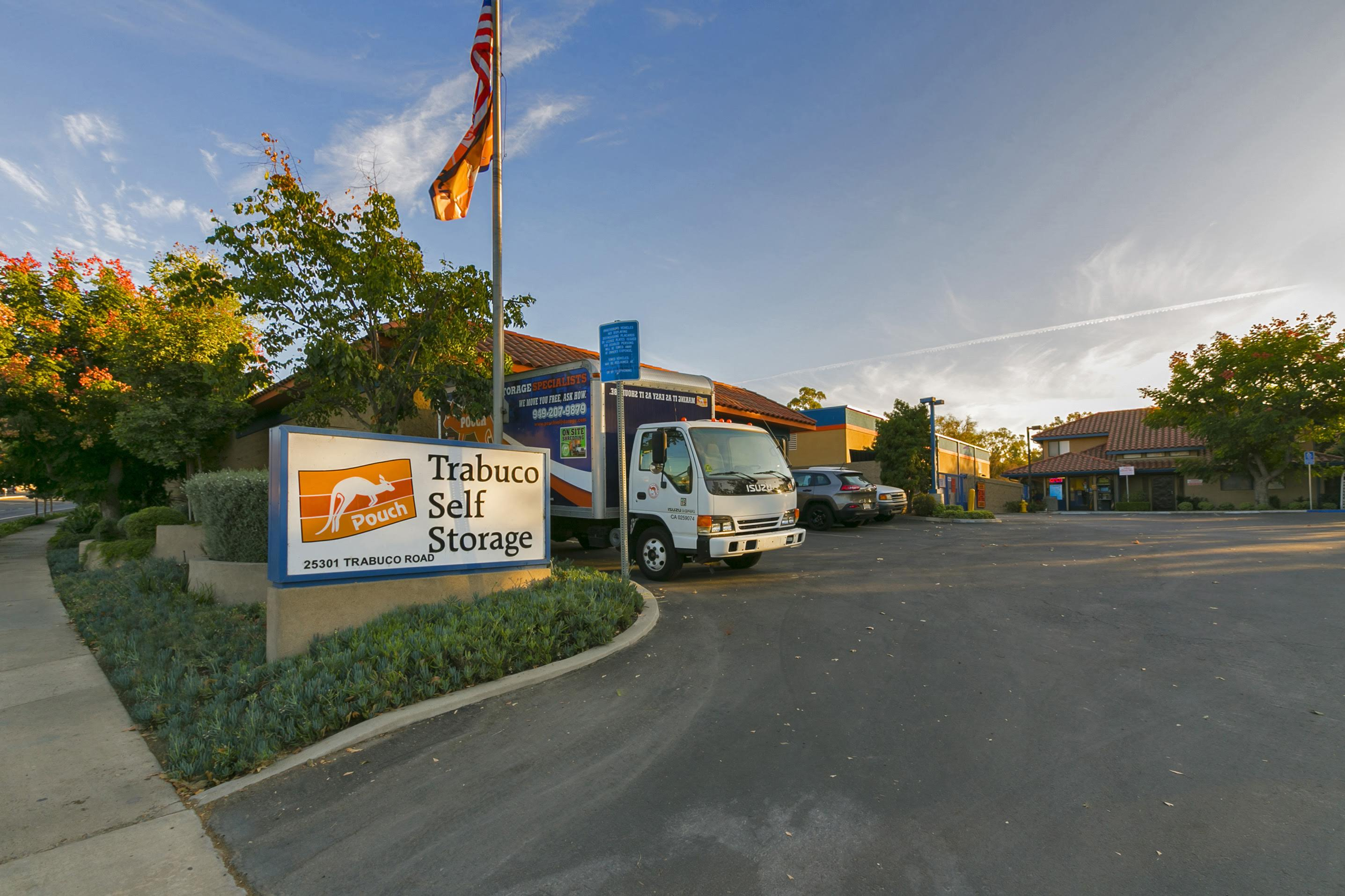 Trabuco Self Storage front sign and moving truck