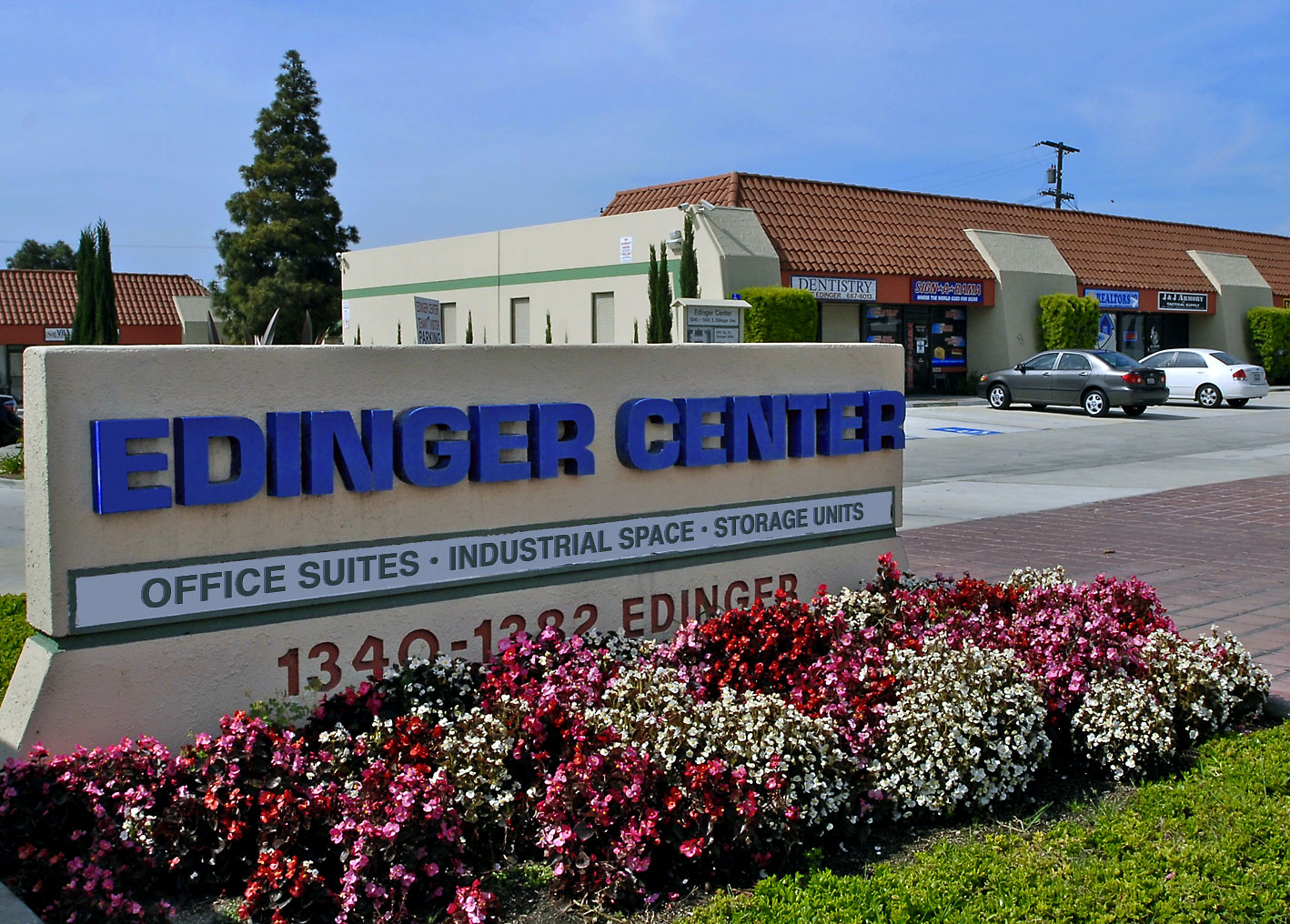 Edinger Center facility sign