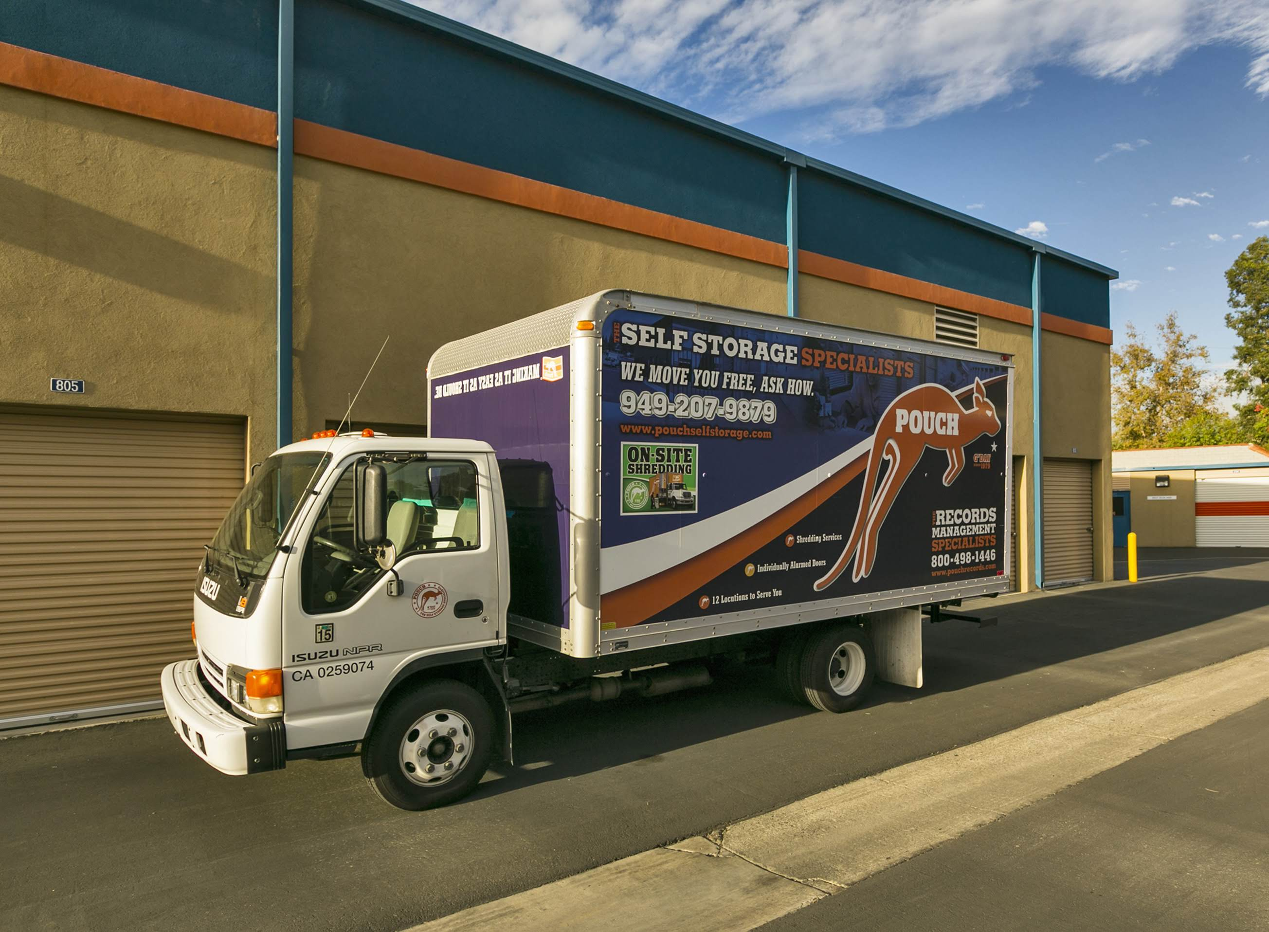 Pouch Self Storage Moving Truck