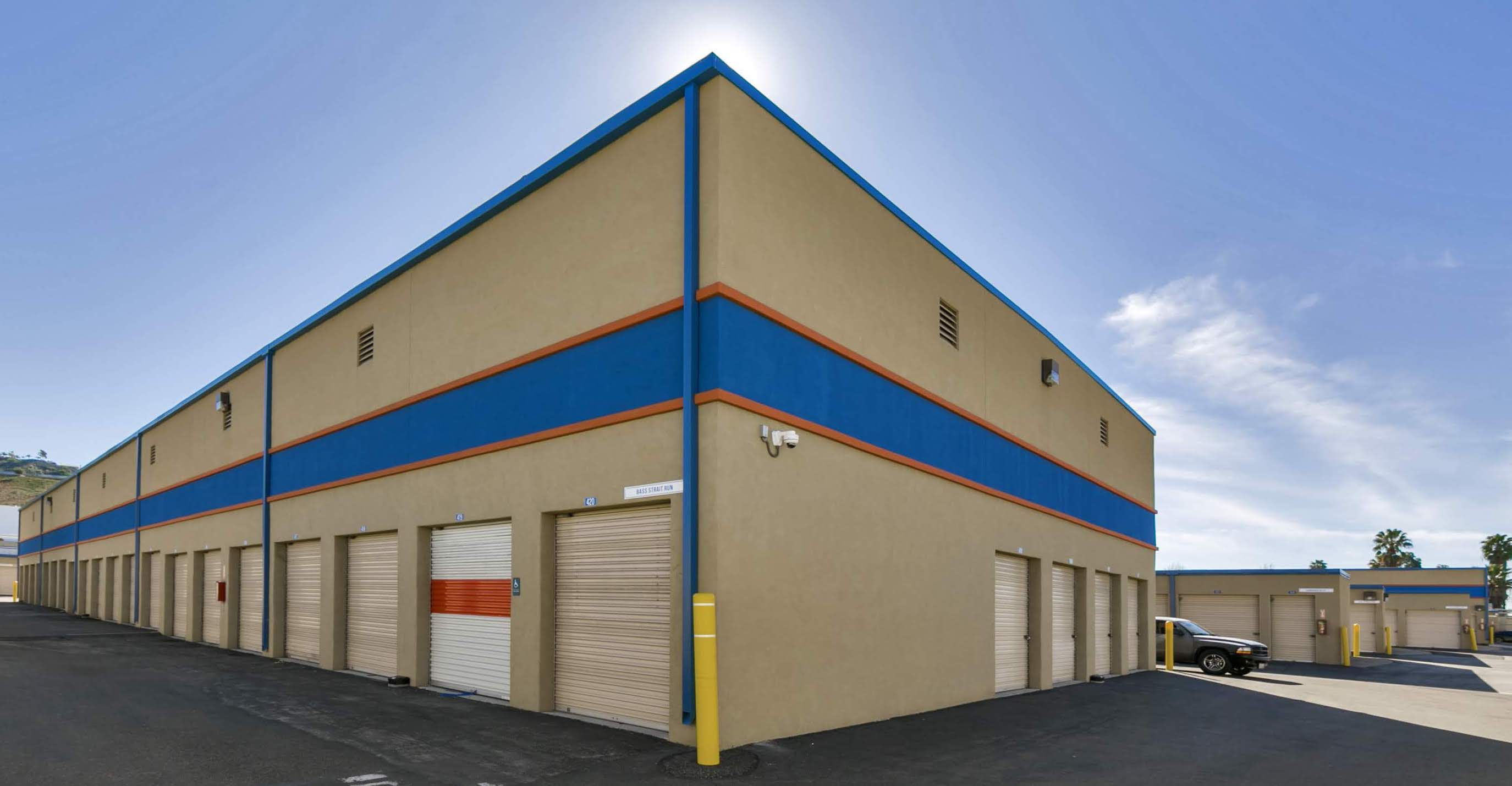 storage unit with exterior access