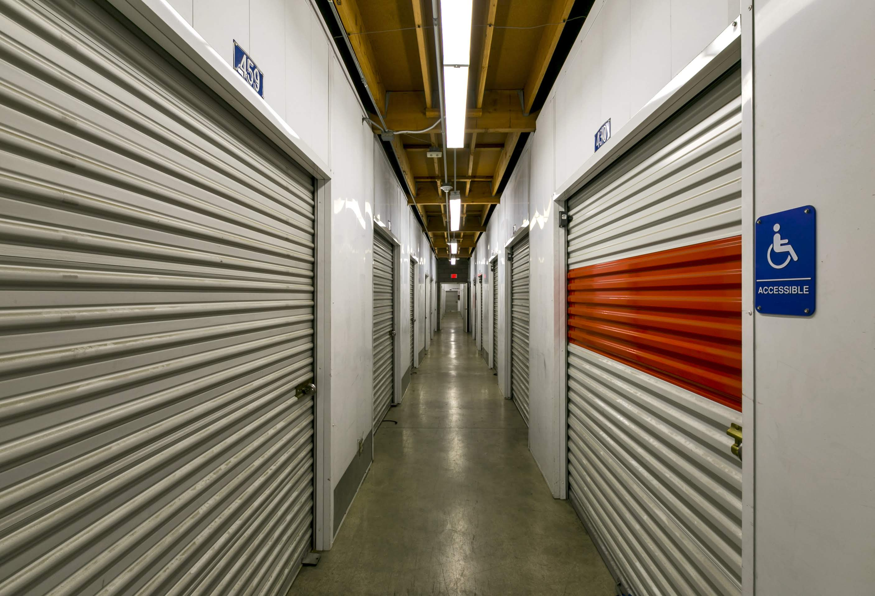 interior of storage building hallway