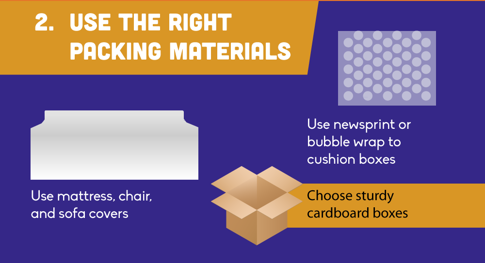 Use the right packing materials