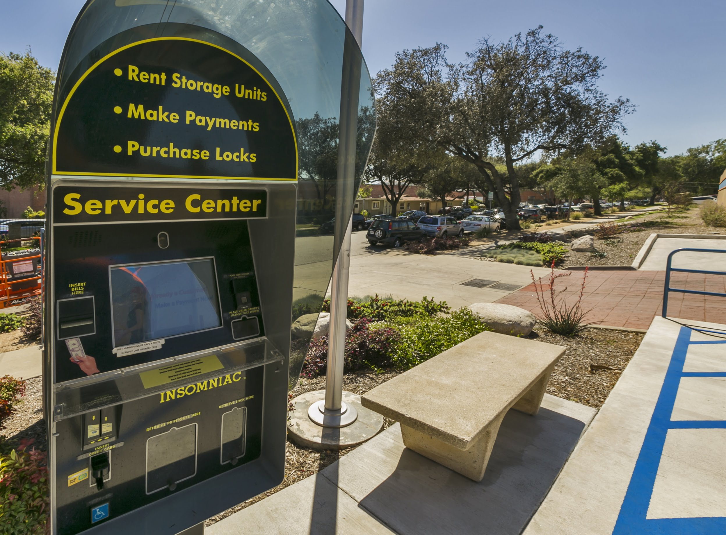 Pouch Self Storage 24 hour self service kiosk