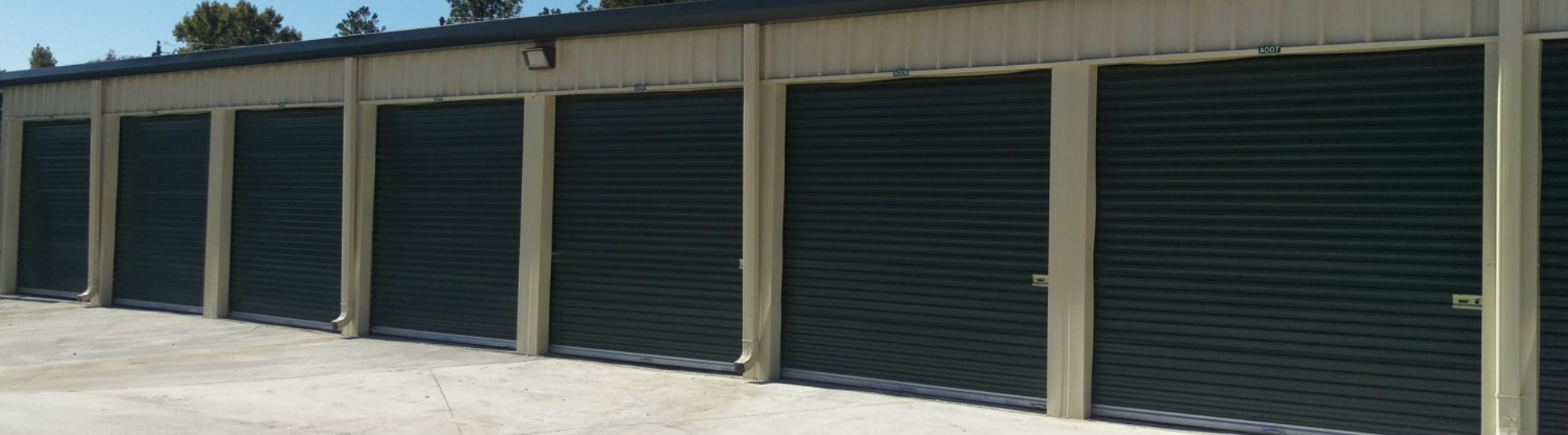 Large Drive Up Storage Units