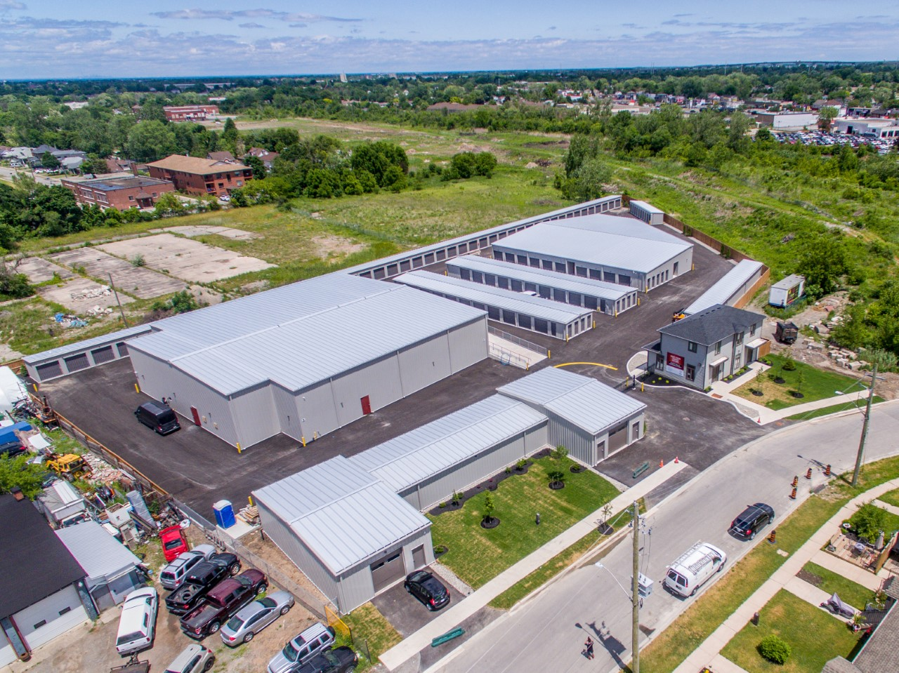 overhead view of self storage in st catharines, on