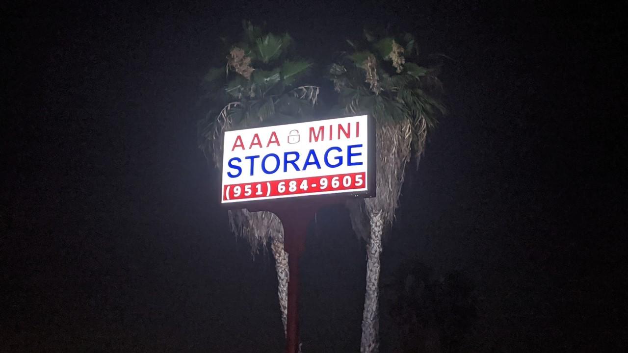 AAA Storage Sign in Riverside, CA 92507