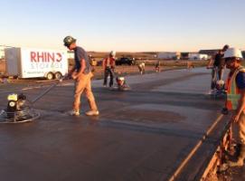 Laying Concrete Rhino Storage