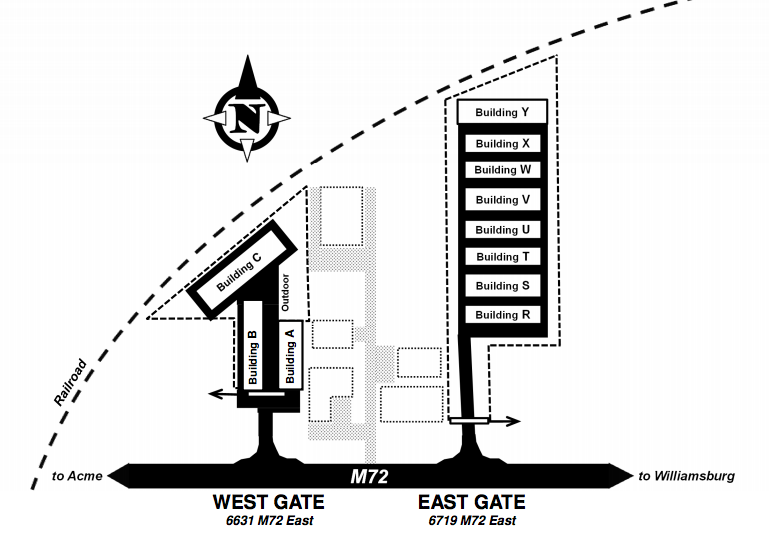 Facility Map of AAA Self Storage