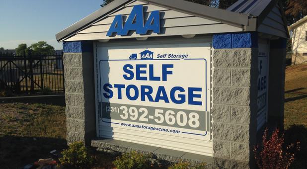AAA Self Storage Williamsburg Sign