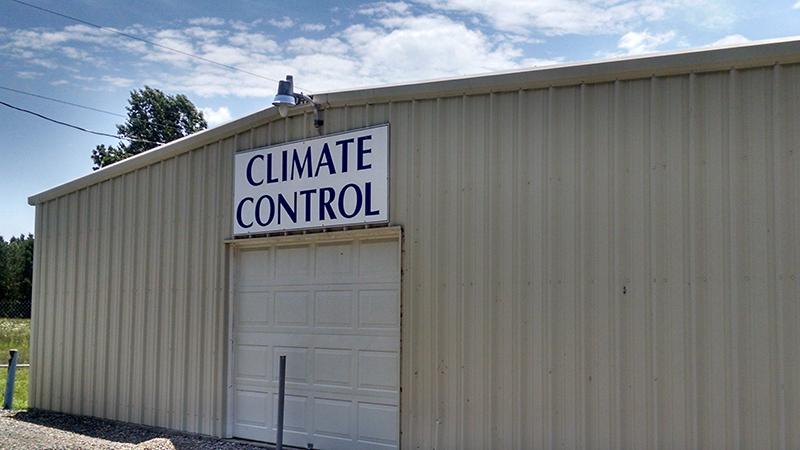 climate control storage building in Lancaster, VA
