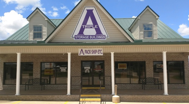 Front of AAA Storage on Rucker Blvd