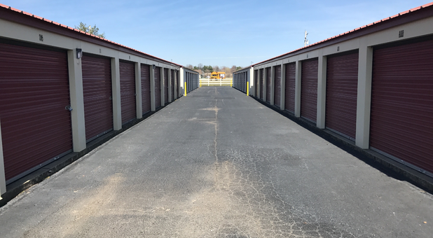 two self storage units with exterior access units