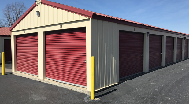 Outside Self Storage Building with outside access