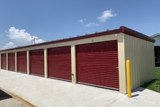 Outside storage units with large doors