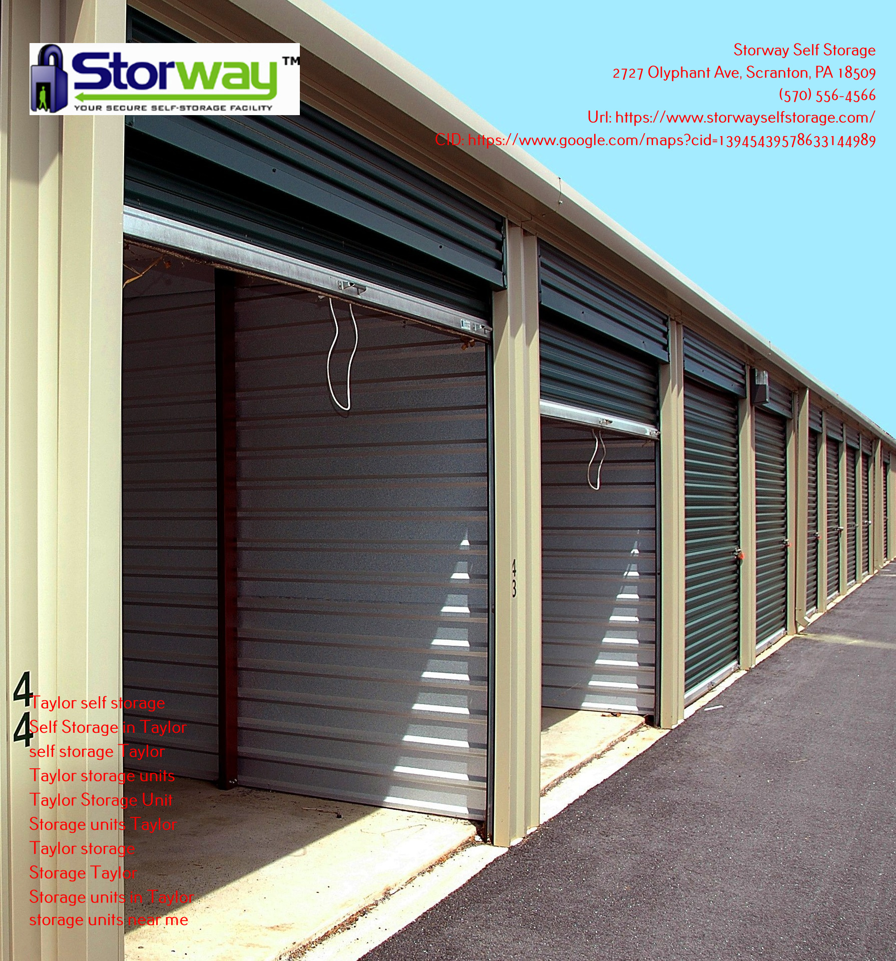 Storage Units in Taylor, Pennsylvania - Adding Space is Essential