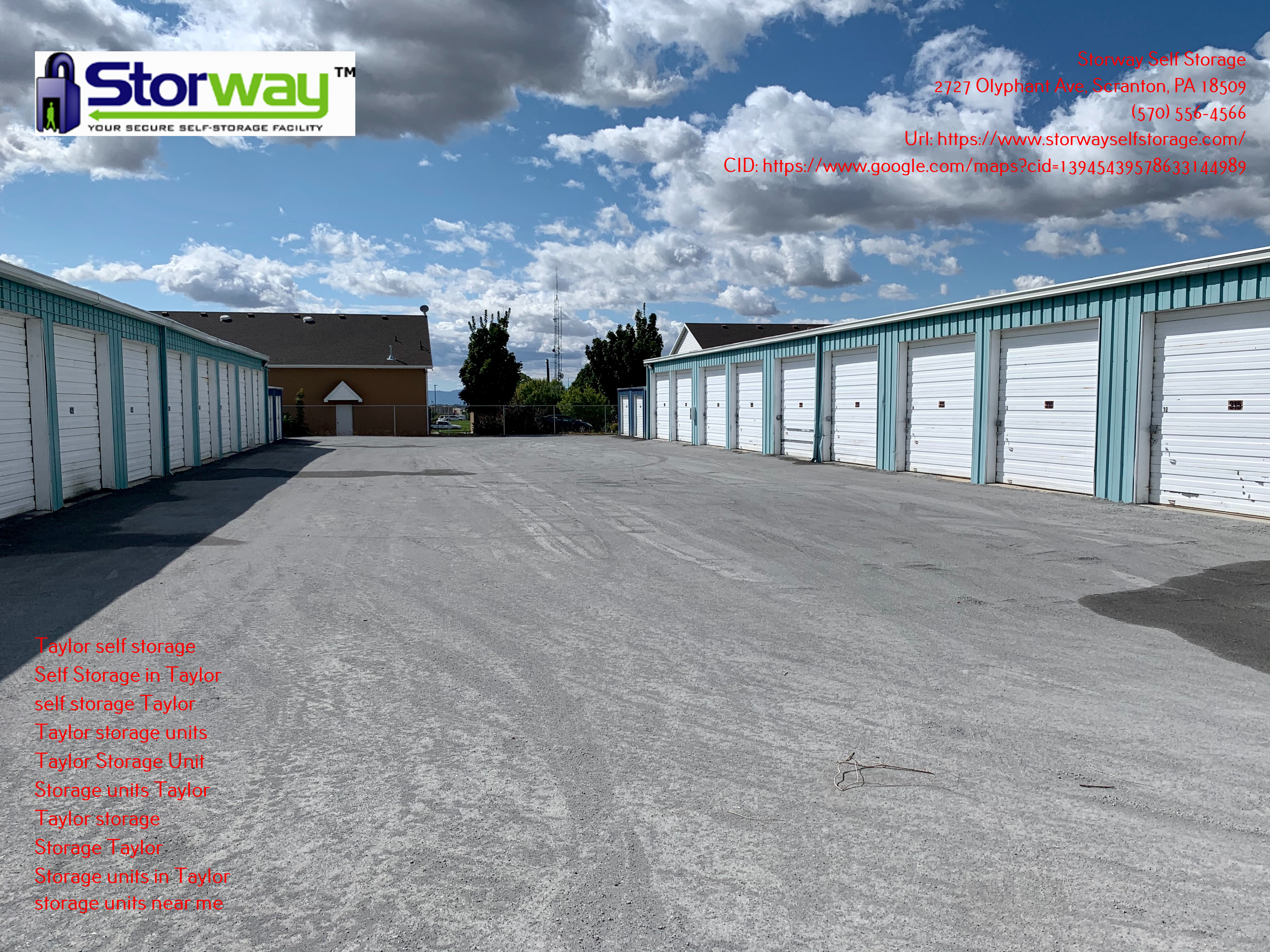 The Sizes of Storage Units in Taylor, Pennsylvania