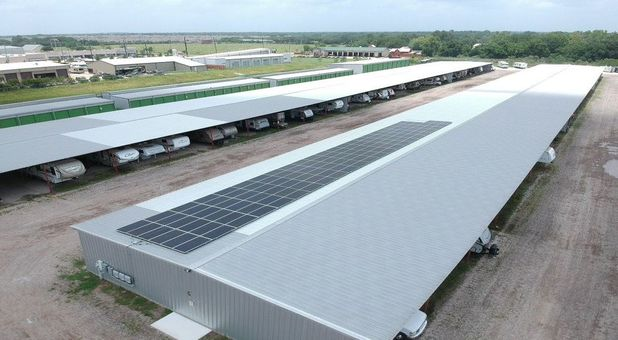 GreenFill Storage Cypress is a Solar Powered Self Storage Facility