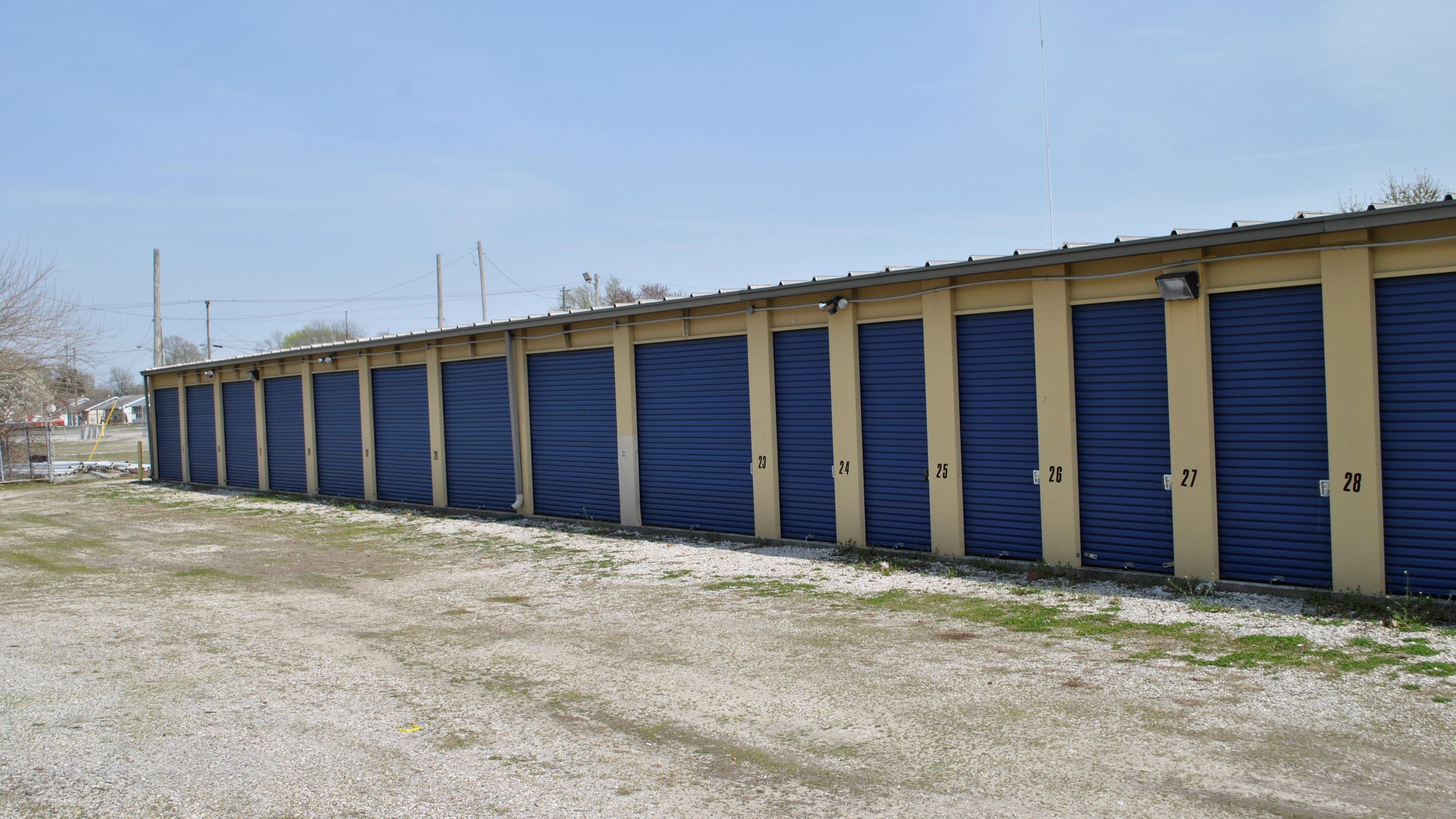 outside self storage units with drive up access