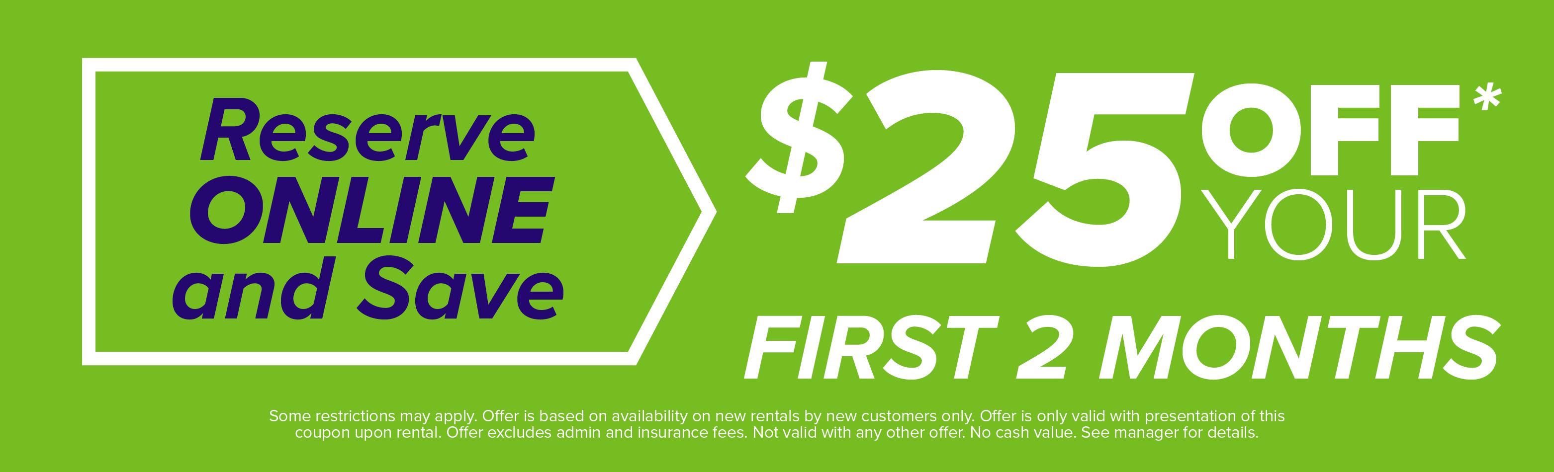 $25 Off First 2 Months