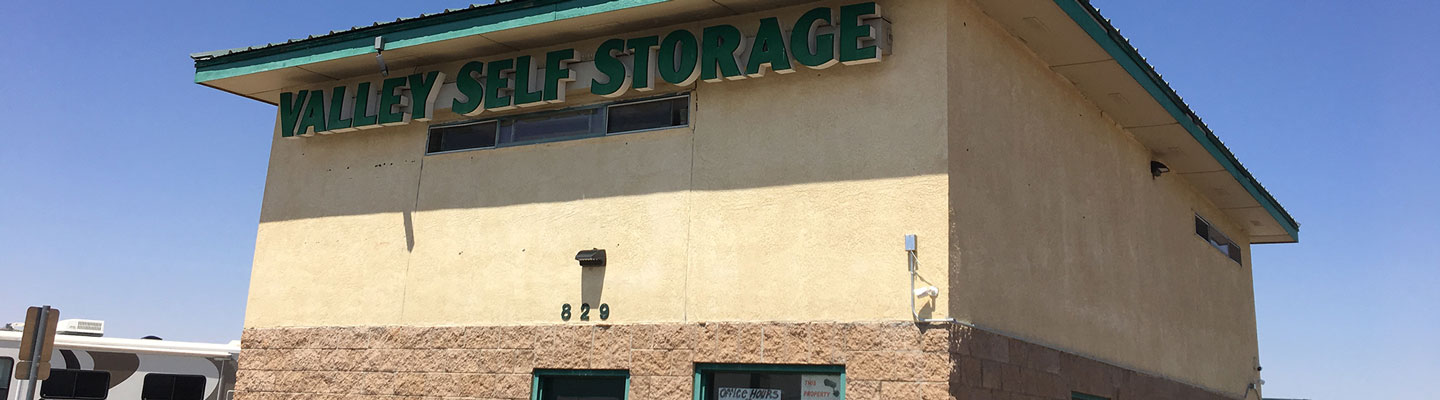 Ground view of the valley self storage building