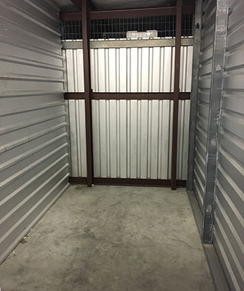 small storage unit interior