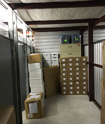 large storage unit interior