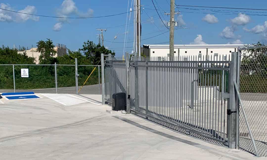 secure Cayman self-storage keypad gate