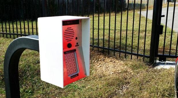Security keypad at Budget Self Storage