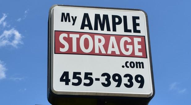 Ample Storage sign