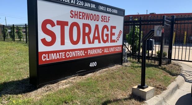 Sherwood Self Storage sign